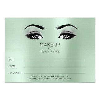 Cartão Presente cinzento verde do certificado da beleza
