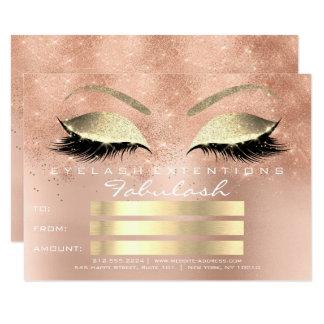 Cartão Presente cor-de-rosa do certificado da composição