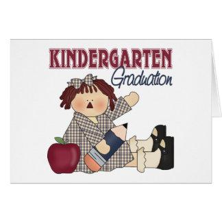 Cartão Presente da graduação do jardim de infância