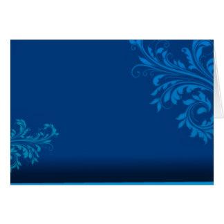 Cartão Presente de aniversário azulado elegante do vetor