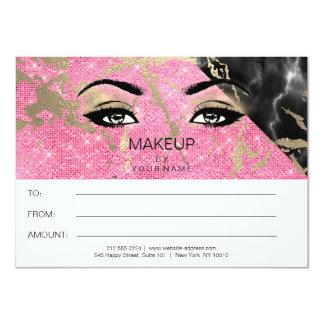 Cartão Presente de mármore cor-de-rosa brilhante do