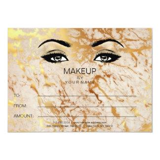 Cartão Presente de mármore do certificado da beleza da