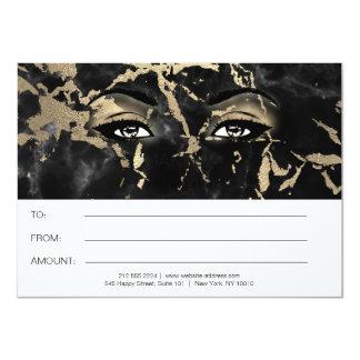 Cartão Presente de mármore preto do certificado da beleza