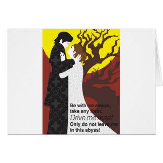 Cartão Presente de Tristan e de Iseult com citações
