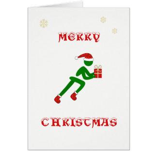 Cartão Presente do carregando do corredor do Natal