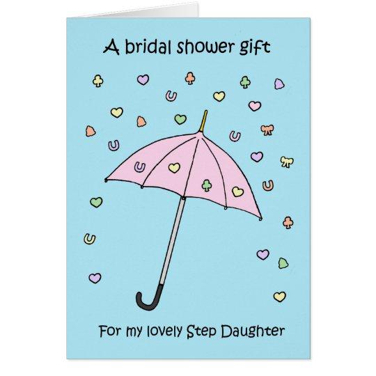 Cartão Presente do chá de panela para a filha da etapa