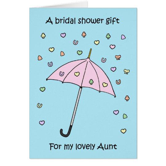 Cartão Presente do chá de panela para a tia