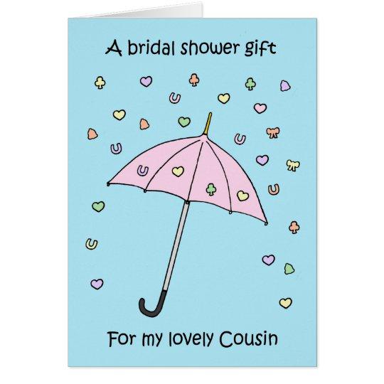 Cartão Presente do chá para o primo