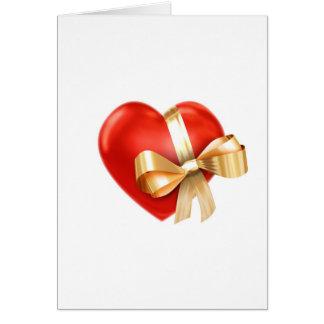 Cartão Presente do coração