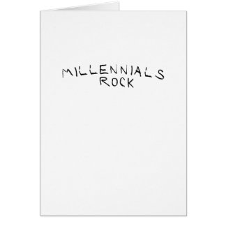 Cartão Presente engraçado da rocha milenar de Millennials