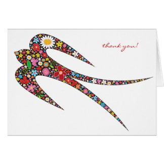 Cartão Presente/obrigado das flores do primavera da