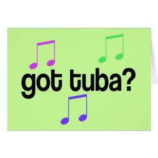 Cartão Presente obtido da música da tuba