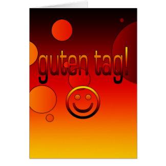 Cartão Presentes alemães: Olá!/Tag de Guten + Smiley face