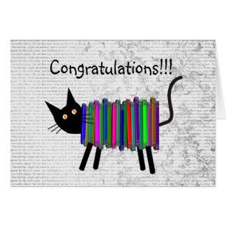 Cartão Presentes aposentados do gato do livro do