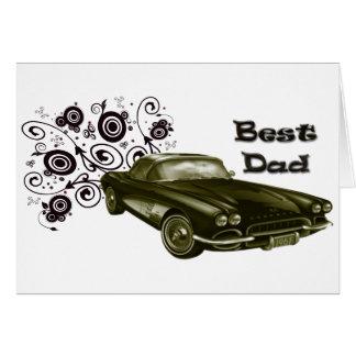 Cartão Presentes clássicos da arte do carro do melhor