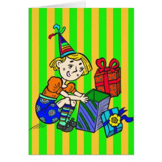 Cartão Presentes da abertura do party girl