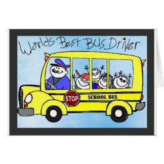 Cartão Presentes da apreciação do condutor de autocarro