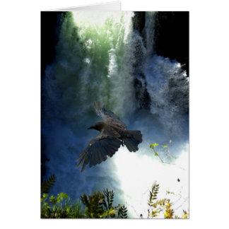 Cartão Presentes da natureza da QUEDA do CORVO & da ÁGUA