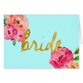 Cartão Presentes da noiva