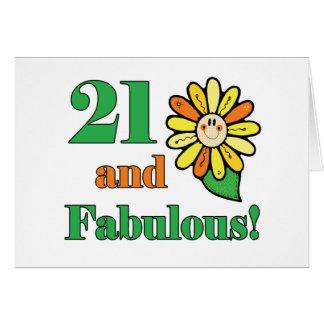 Cartão Presentes de aniversário de 21 anos fabulosos