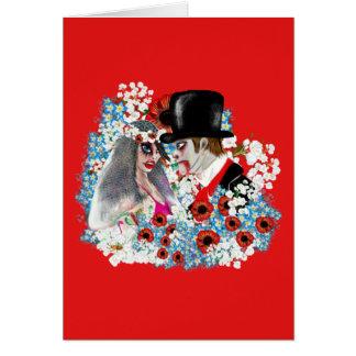 Cartão Presentes de casamento legal dos noivos do zombi