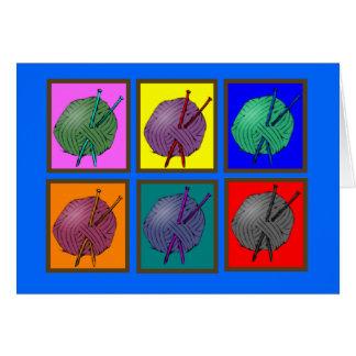 Cartão Presentes de confecção de malhas de Popart