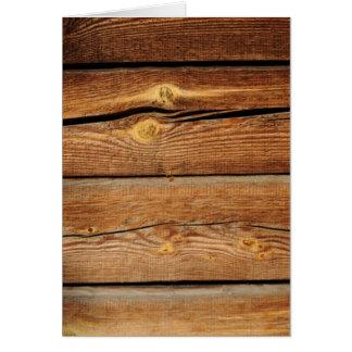 Cartão Presentes de madeira do país do conselho das