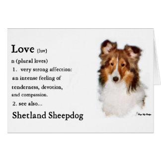 Cartão Presentes de Sheltie do Sheepdog de Shetland