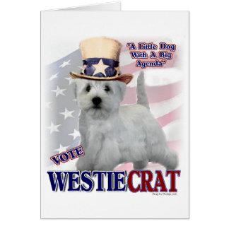 Cartão Presentes de Terrier branco de montanhas