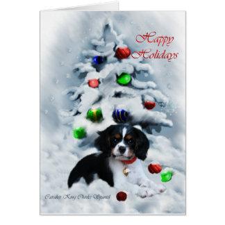 Cartão Presentes descuidados do Natal do Spaniel de rei