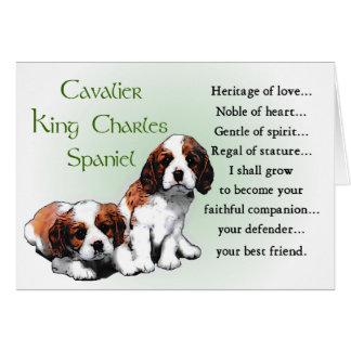 Cartão Presentes descuidados do Spaniel de rei Charles