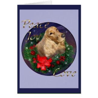 Cartão Presentes do Natal de cocker spaniel do inglês
