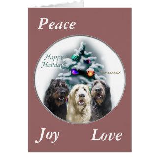 Cartão Presentes do Natal de Labradoodle