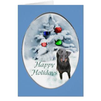 Cartão Presentes do Natal de Manchester Terrier