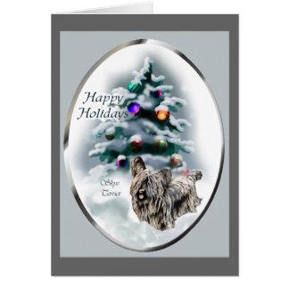 Cartão Presentes do Natal de Skye Terrier