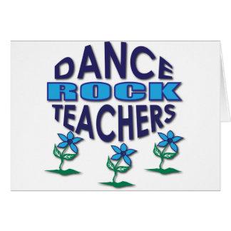 Cartão Presentes do professor da dança