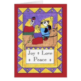 Cartão Presentes dos Magi - alegria, amor, paz
