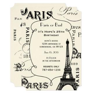 Cartão Presentes e lembranças de Paris France