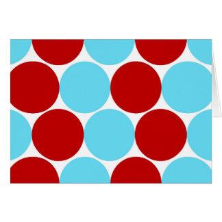Cartão Presentes grandes vermelhos do teste padrão de