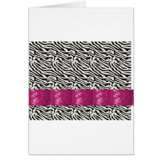 Cartão Presentes listrados da zebra bonito do rosa da