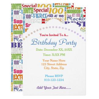 Cartão Presentes originais e do Special 100th da festa de