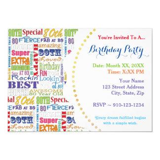 Cartão Presentes originais e especiais da festa de