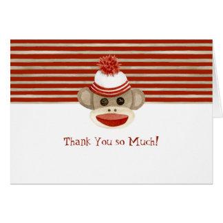 Cartão Presentes retros do bebé do boné de meia de w do