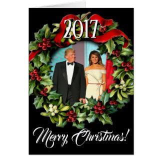 Cartão Presidente 2017 Donald Trump & Natal de Melania