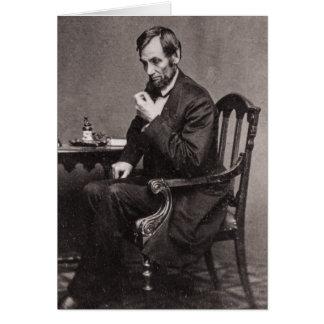 CARTÃO PRESIDENTE ABRAHAM LINCOLN 1862 STEREOVIEW
