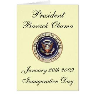 Cartão Presidente Barack Obama