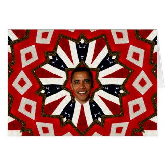Cartão Presidente Barack Obama, USA_