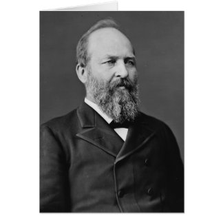 Cartão Presidente de James Garfield 20o