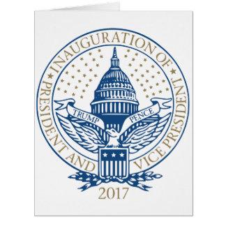 Cartão Presidente Inaugural Logotipo Inauguração das