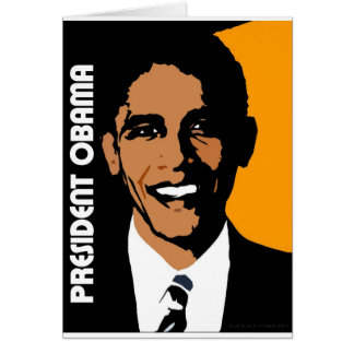 Cartão Presidente Obama